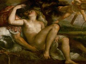 Mars, Venus, and Amor by Titian (Tiziano Vecelli)