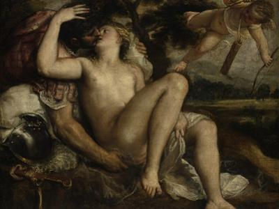 Mars, Venus and Cupid, Ca 1530 by Titian (Tiziano Vecelli)