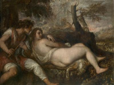 Nymph and Shepherd, 1570-1575 by Titian (Tiziano Vecelli)