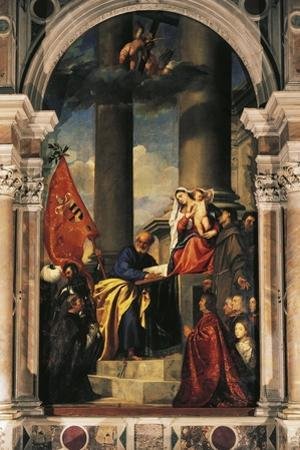 Pesaro Madonna by Titian (Tiziano Vecelli)