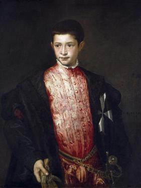Portrait of Cardinal Ranuccio Farnese as a Boy by Titian (Tiziano Vecelli)