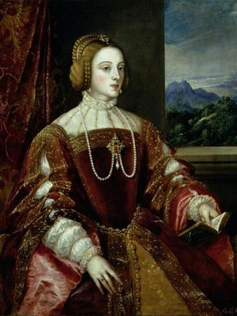 Portrait of the Empress Isabella of Portugal, 1548 by Titian (Tiziano Vecelli)