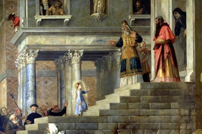 Presentation of the Virgin at the Temple, 1534-38 (Detail) by Titian (Tiziano Vecelli)