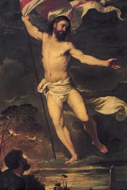 Resurrection of Christ, Detail from Central Panel of Averoldi Altarpiece by Titian (Tiziano Vecelli)