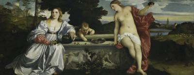 Sacred and Profane Love by Titian (Tiziano Vecelli)