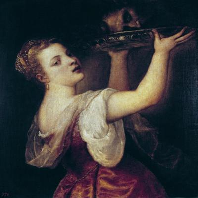 Salome Carrying the Head of St by Titian (Tiziano Vecelli)