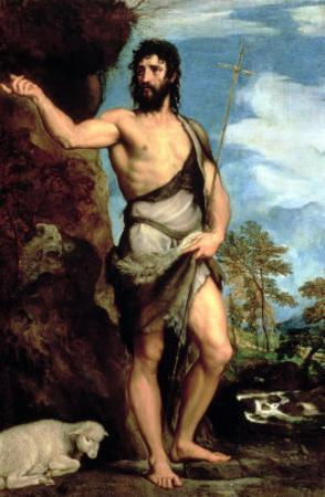 St. John the Baptist by Titian (Tiziano Vecelli)