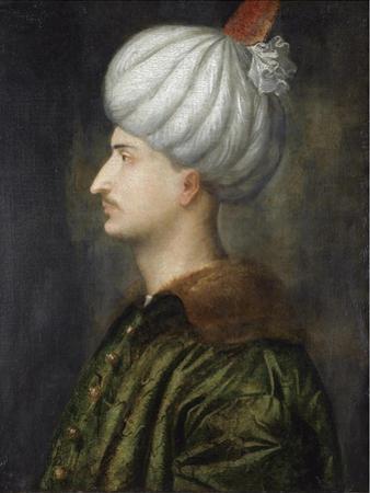 Sultan Suleiman I the Magnificent by Titian (Tiziano Vecelli)