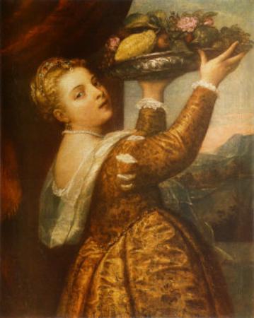 The Artists Daughter Lavinia by Titian (Tiziano Vecelli)