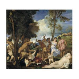 The Bacchanal of the Andrians, 1523-1526 by Titian (Tiziano Vecelli)
