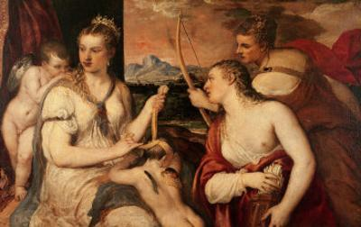 The Education of Cupid, circa 1565 by Titian (Tiziano Vecelli)