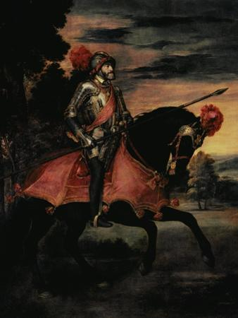 The Emperor Charles V (1500-58) on Horseback in Muhlberg, 1548 by Titian (Tiziano Vecelli)