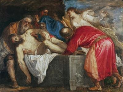 The Entombment of Christ, 1559 by Titian (Tiziano Vecelli)