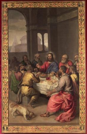 The Last Supper by Titian (Tiziano Vecelli)