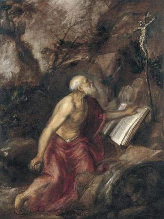 The Penitent Saint Jerome by Titian (Tiziano Vecelli)