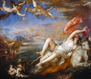 The Rape of Europa, 1560-1561 by Titian (Tiziano Vecelli)