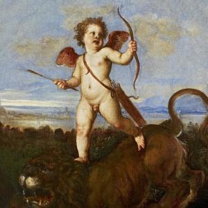 The Triumph of Love, C. 1545 by Titian (Tiziano Vecelli)