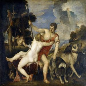 Venus and Adonis by Titian (Tiziano Vecelli)