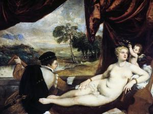 Venus and the Lute Player, C1565-1570 by Titian (Tiziano Vecelli)