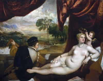 Venus and the Lute Player by Titian (Tiziano Vecelli)