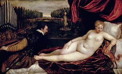 Venus and the Organist, c.1540-50 by Titian (Tiziano Vecelli)