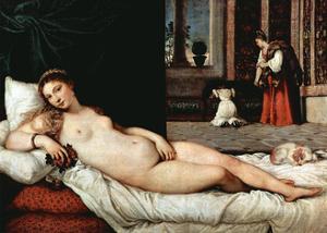 Venus of Urbino, 1538 by Titian (Tiziano Vecelli)