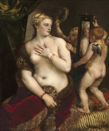 Venus with a Mirror, C. 1555 by Titian (Tiziano Vecelli)