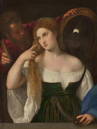 Young Woman at Her Toilette, Ca 1515 by Titian (Tiziano Vecelli)