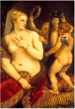 Titian Venus in Front of the Mirror Art Print Poster