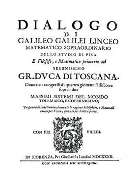 Title Page of Dialogo, by Galileo, 1632