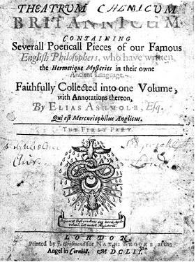 Title Page of Elias Ashmole's Theatrum Chemicum Britannicum, 1652