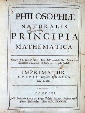 Title Page of Newton's Philosophiae Naturalis Principia Mathematica, 1687