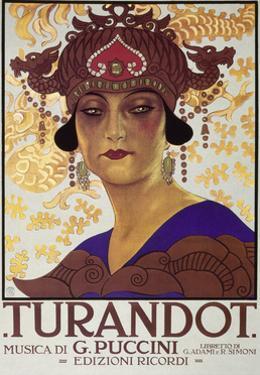 Title Page of Score of Turandot, Opera by Giacomo Puccini