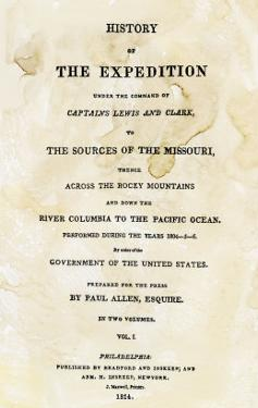 Title Page of the First Publication of Lewis and Clark's Journal and Notes, c.1814