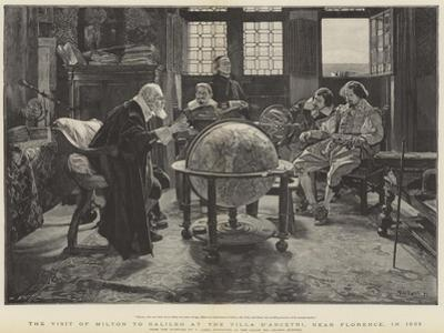 Visit of John Milton to Galileo at the Villa D'Arcetri, Near Florence, Italy