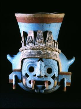 Tlaloc, Rain God, Vase, Aztec, Mexico