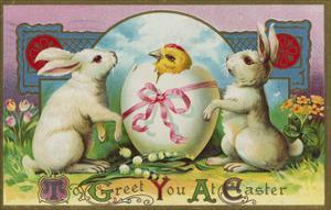 To Greet You at Easter Postcard