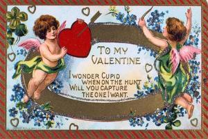To My Valentine, American Valentine Card, C1908