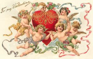 To My Valentine, Cupids around Heart