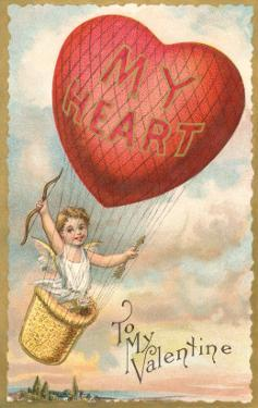 To My Valentine, Heart Balloon and Cupid