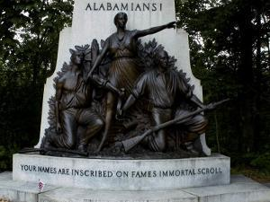 Alabama State Monument on the Gettysburg Battlefield by Todd Gipstein