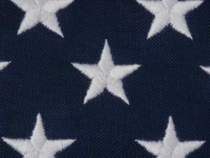 An Exteme Close-up of the Stars on an American Flag by Todd Gipstein
