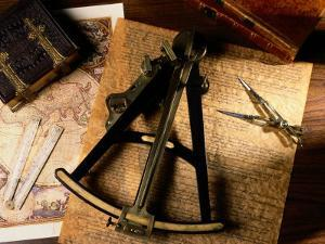 Charts, Books, and Various Tools Used in Map Making by Todd Gipstein