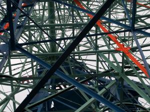 Close-Up of Ferris Wheel Mechanism, Brooklyn, New York by Todd Gipstein