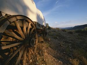 Covered Wagon at Bar 10 Ranch Near Grand Canyon by Todd Gipstein