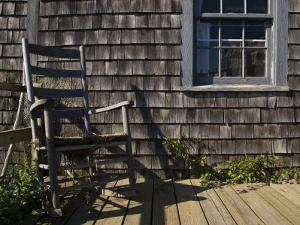 Rocking Chair on a New England Porch by Todd Gipstein