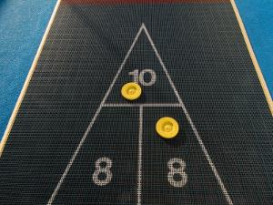 Shuffleboard Game on a Cruise Ship by Todd Gipstein
