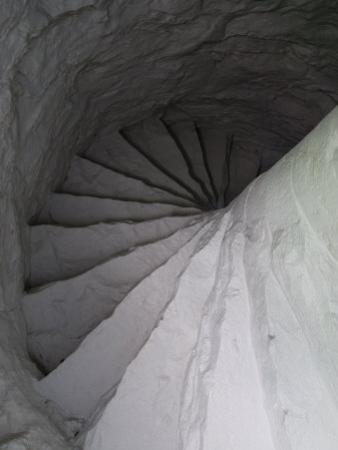 Winding Stone Stairway in an Old Lighthouse, Stonington, Connecticut