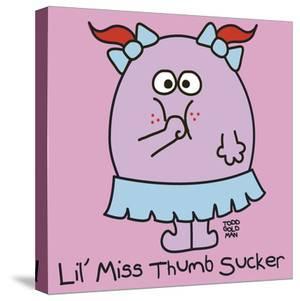 Lil Miss Thumb Sucker by Todd Goldman