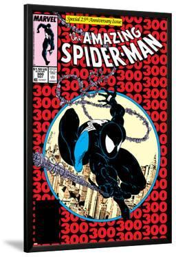 Amazing Spider-Man No.300 Cover: Spider-Man Fighting and Flying by Todd McFarlane